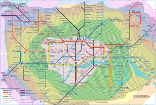 Map of the Day Londons Tube with distance Second Ave Sagas – London Travel Zone Map